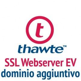 Dominio aggiuntivo Thawte SSL Webserver EV